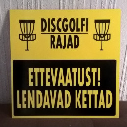 Warning sign (in Estonian)